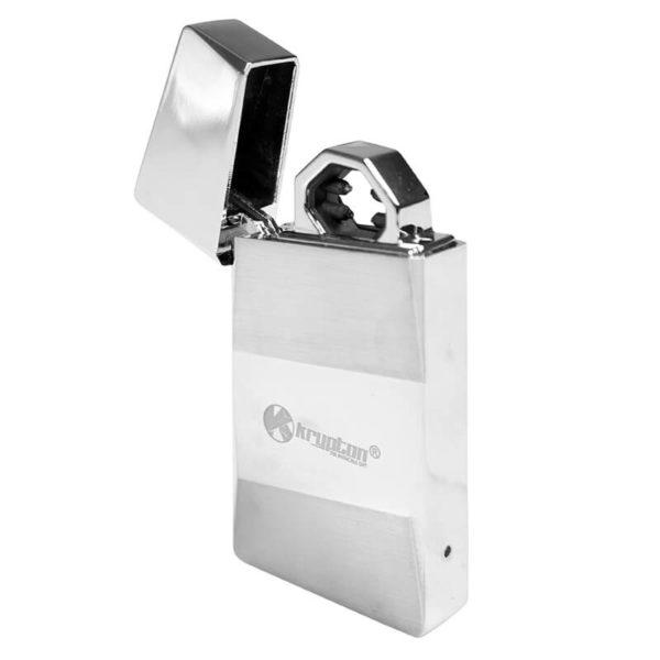 ENCENDEDOR KRYPTON CROMADO CON CABLE USB INTEGRADO