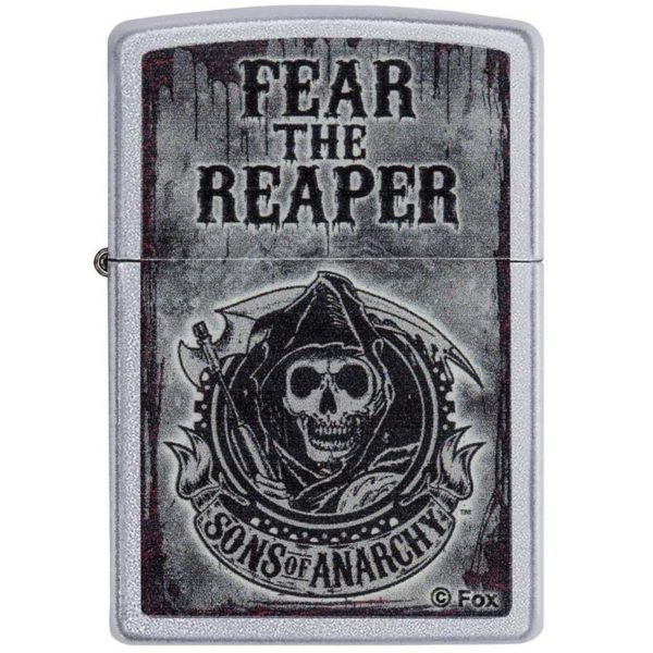 ENCENDEDOR ZIPPO SONS OF ANARCHY FEAR THE REAPER