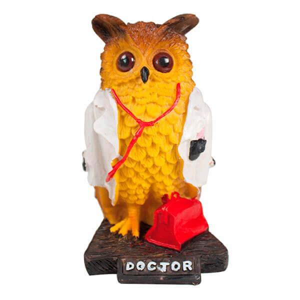 BUHO DOCTOR DE 21X11X10CM