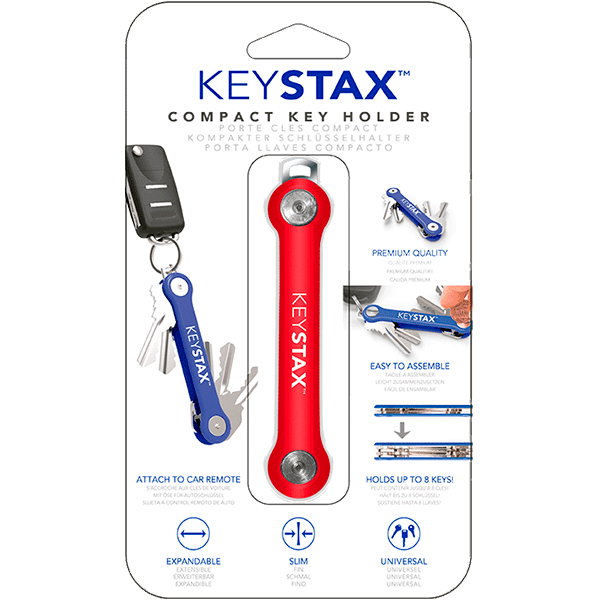 KEY STAX PARA 8 LLAVES COLOR ROJO EN BLISTER