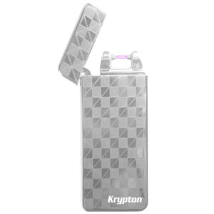 ENCENDEDOR KRYPTON GRIS CON CABLE USB INTEGRADO