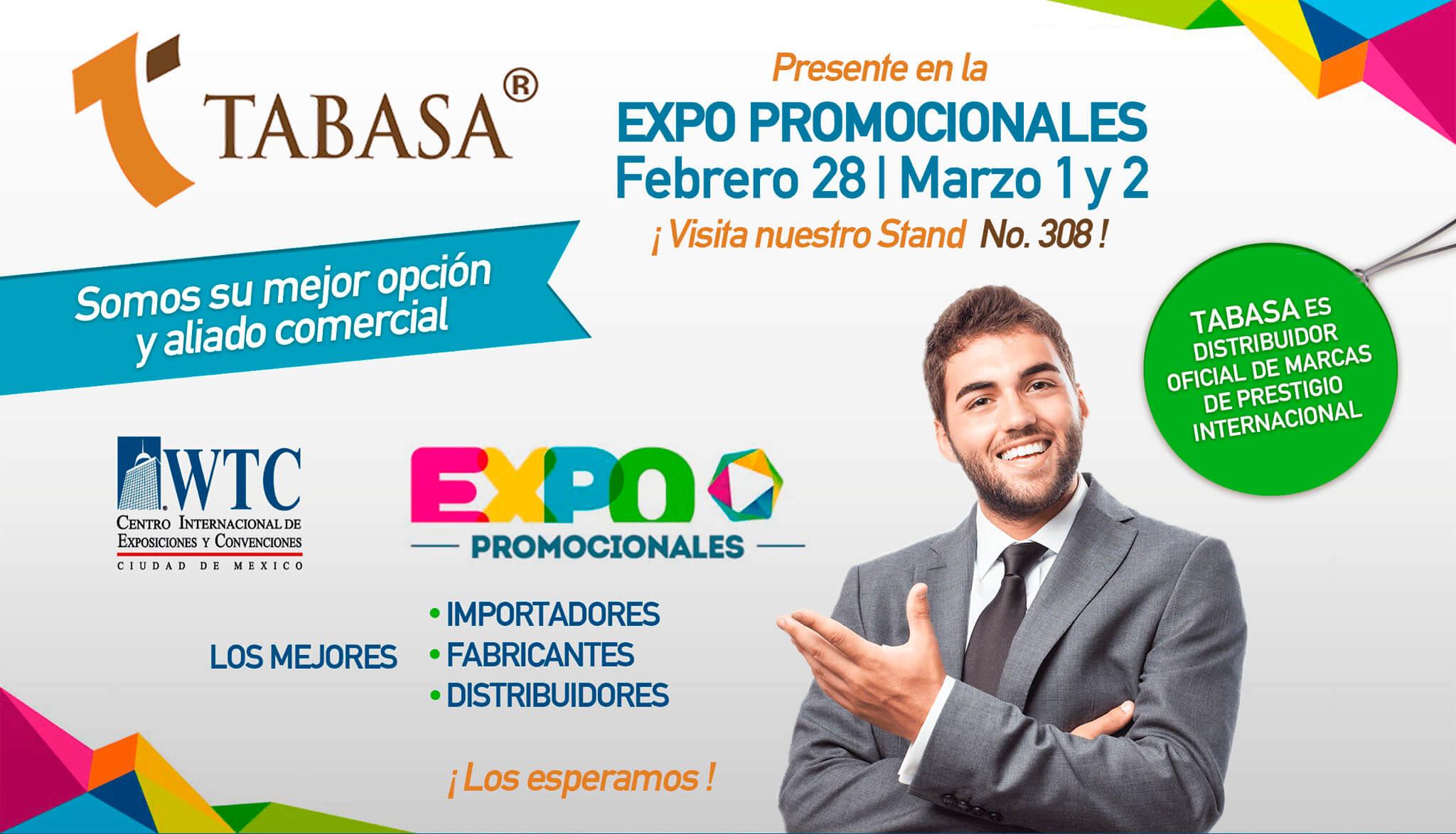 Tabasa presente en la Expo Promocionales 2018